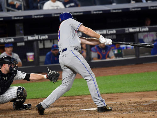 New York Mets JAY BRUCE hits first home run for the Mets