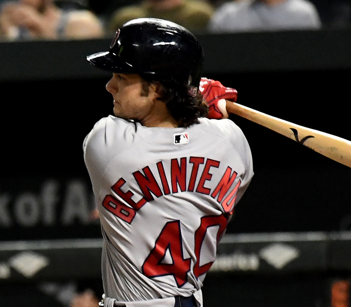 Red Sox Rookie Outfielder ANDREW BENINTENDI Hits A Two-out