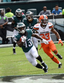 Philadelphia Eagles running back DARREN SPROLES returns punt