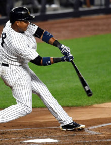 New York Yankees STARLIN CASTRO homers in the third