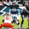 Philadelphia Eagles rookie quarterback CARSON WENTZ calling signals