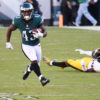Philadelphia Eagles running back Darren Sproles runs for a first down