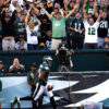 Philadelphia Eagles wide receiver, JORDAN MATTHEWS, scores a touchdown