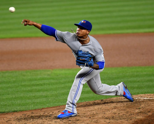 Toronto Blue Jays starting pitcher MARCUS STROMAN strike out pitch