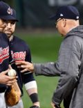Indians manager TERRY FRANCONA relieves starting pitcher JOSH TOMLIN