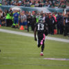 Eagles JOSH HUFF returns kick off 98 yards for a touchdown