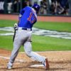 Chicago Cubs third baseman KRIS BRYANT singles against Cleveland