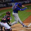 Chicago Cubs third baseman KRIS BRYANT hits a home run