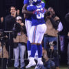 Giants wide receiver JERELL ADAMS celebrates first NFL TD