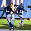 Giants ODELL BECKHAM JR celebrates scoring a touchdown