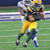Green Bay defensive back MICAH HYDE makes a critical interception