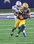 Green Bay defensive back MICAH HYDE makes a critical interception