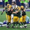 Mason Crosby and Teammates celebrate