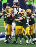 Mason Crosby and Teammates celebrate