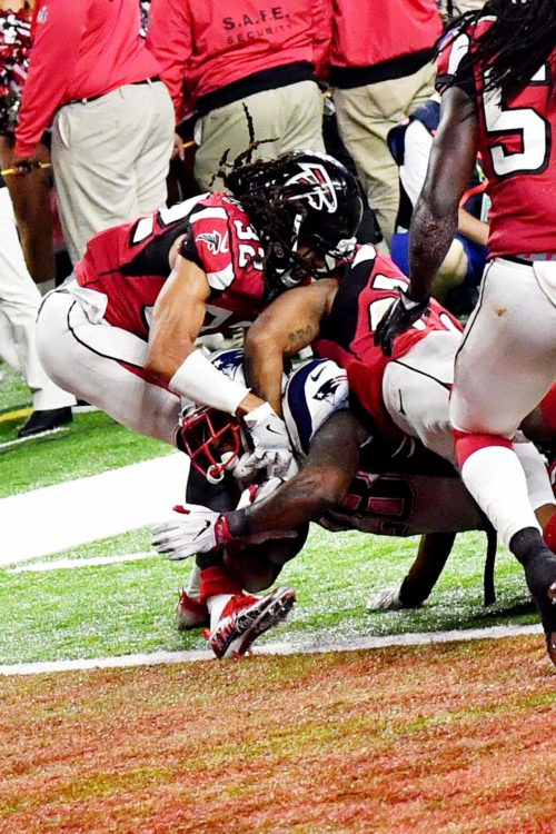 New England Patriots James White winning touchdown Super Bowl LI