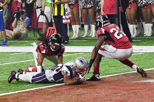 New England Patriots James White scores their first touchdown
