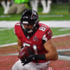 Atlanta Falcons Austin Cooper scores their second touchdown