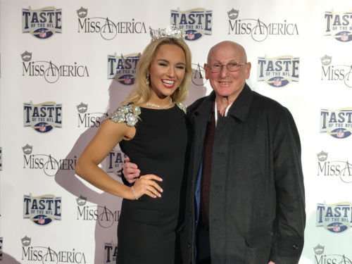 Dick Druckman and Miss America at Super Bowl LI