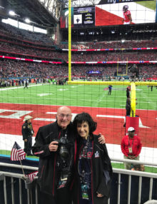 Joan and Dick Druckman at Super Bowl LI,