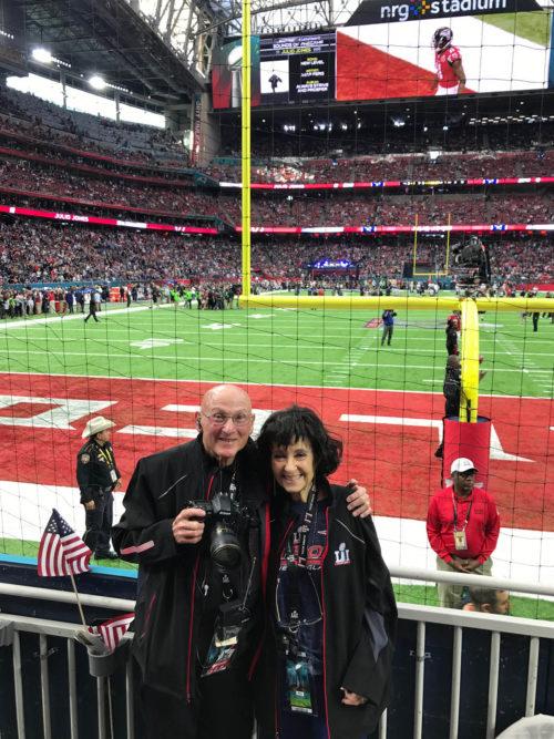 Joan and Dick Druckman at Super Bowl LI,