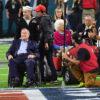 President George Bush Senior and Barbara Bush at Super Bowl LI