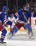 Rangers Henrik Lundqvist makes one of his 27 saves