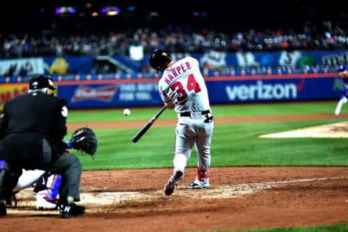 Nationals Bryce Harper doubles in the 11th