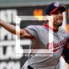 Washington Nationals starting pitcher Max Scherzer retires Philadelphis Phillies Maikel Franco