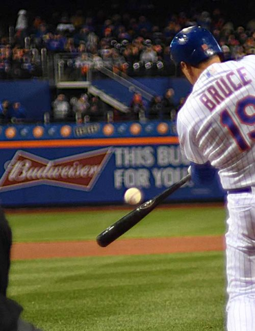 New York Mets outfielder Jay Bruce hits a 432 ft home run