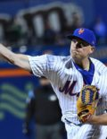 New York Mets closer Addison Reed strikes out Marlins slugger Giancarlo Stanton