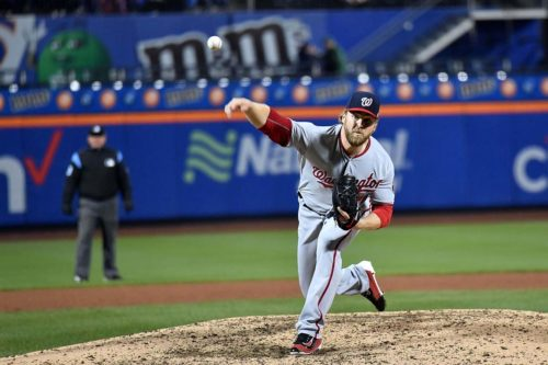 Nationals Shawn Kelly strikes out Mets T. J. Rivera