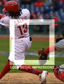 Phillies infielder Freddy Galvis hits a two-run home run