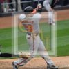 Baltimore Orioles catcher Welington Castillo singles