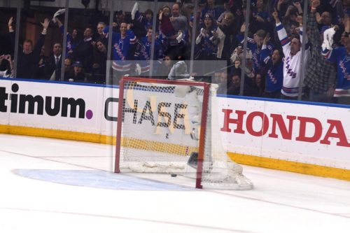Rangers Derek Stephan scored an empty-netter