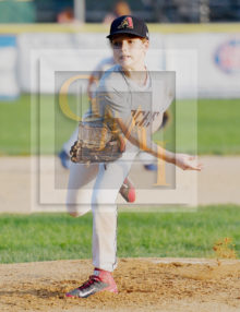 GMI Diamondbacks winning Pitcher Jonah Levy throws a Strike