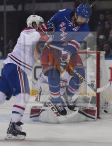 New York Rangers Rick Nash leaps into the air