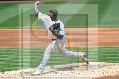 Yankees startng pitcher Michael Pineda strike out pitch