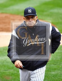 New York Yankees manager Joe Girardi walks to the dugout