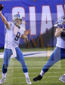 Detroit Lions QB Matthew Stafford completes pass