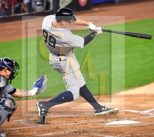 Yankees rookie sensation AARON JUDGE hits his record 51st home run (pic 1 of 2 in series)