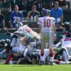 Giants Orleans Darkwa is stopped by linebacker Joe Walker