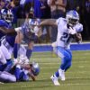 Detroit Lions running back Ameer Abdullah runs for first down