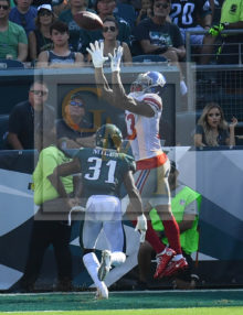 New York Giants ODELL BECKHAM JR's leaping catch