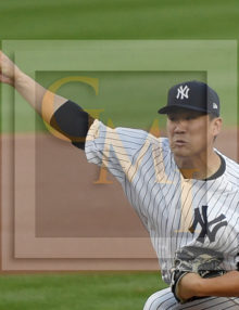 Yankees MASAHIRO TANAKA strikes out Carlos Beltran