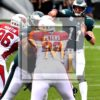 Eagles quarterback CARSON WENTZ throws a 11 yard touchdown pass