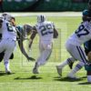 Jets BILAL POWELL finds a whole in the Jaguars defense