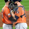 Astros DALLAS KEUCHEL and BRIAN McCANN have a tete a tete