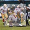 Philadelphia Eagles defensive end VINNY CURRY sacks 49ers quarterback CJ BEATHARD