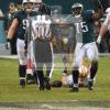 Philadelphia Eagles defensive end VINNY CURRY celebrates sacking 49ers quarterback CJ BEATHARD