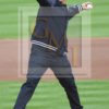 Retired Yankee and Astro pitcher ANDY PETTITTE throws out the ceremonial first pitch